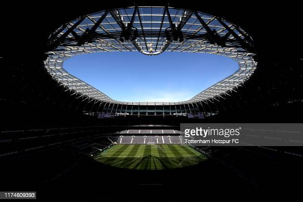 A general view inside the stadium during the Premier League match between Tottenham Hotspur and Crystal Palace at Tottenham Hotspur Stadium on...