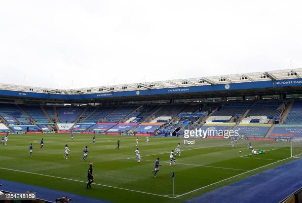 General view inside the stadium during the Premier League match between Leicester City and Crystal Palace at The King Power Stadium on July 04 2020...