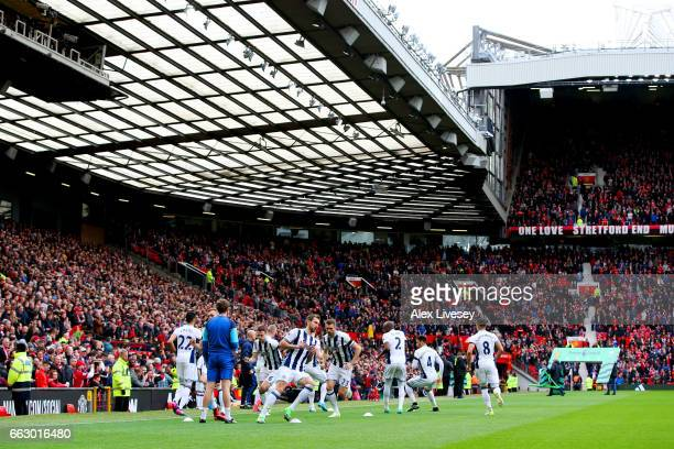 General view inside the stadium during the Premier League match between Manchester United and West Bromwich Albion at Old Trafford on April 1 2017 in...