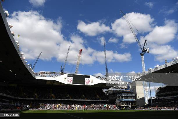 General view inside the stadium during the Premier League match between Tottenham Hotspur and AFC Bournemouth at White Hart Lane on April 15 2017 in...