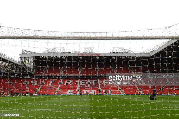 A general view inside the stadium during the Premier League match between Manchester United and Swansea City at Old Trafford on March 31 2018 in...