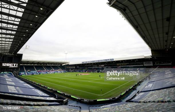 General view inside the stadium during the Premier League match between West Bromwich Albion and Chelsea at The Hawthorns on September 26, 2020 in...