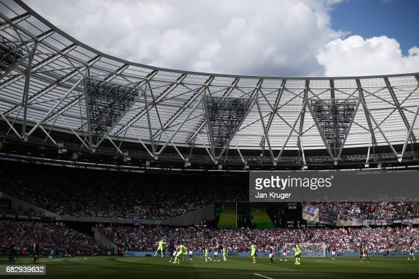 General view inside the stadium during the Premier League match between West Ham United and Liverpool at London Stadium on May 14 2017 in Stratford...