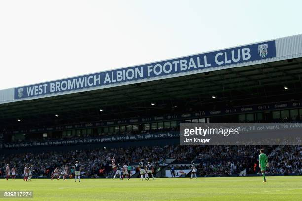 General view inside the stadium during the Premier League match between West Bromwich Albion and Stoke City at The Hawthorns on August 27 2017 in...