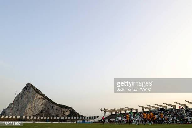 General view inside the stadium during the Pre-Season Friendly match between Real Betis and Wolverhampton Wanderers at Estadio Municipal de La Linea...