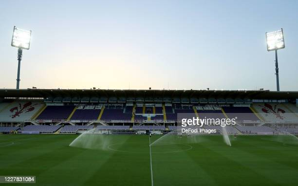 General view inside the stadium during the Serie A match between ACF Fiorentina and Bologna FC at Stadio Artemio Franchi on July 29, 2020 in...