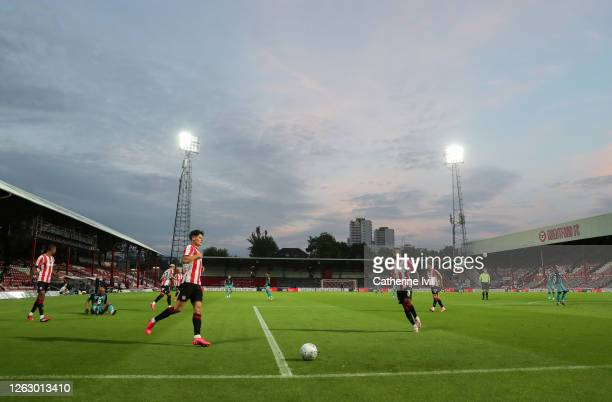 General view inside the stadium during the Sky Bet Championship Play Off Semi-final 2nd Leg match between Brentford and Swansea City at Griffin Park...