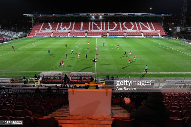 General view inside the stadium during the Sky Bet League One match between Swindon Town and Lincoln City at The Energy Check County Ground on...