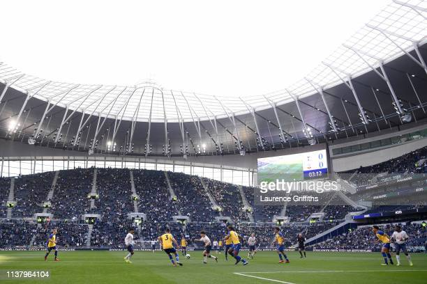 General view inside the stadium during the U18 Premier League between Tottenham Hotspur and Southampton at Tottenham Hotspur Stadium on March 24 2019...