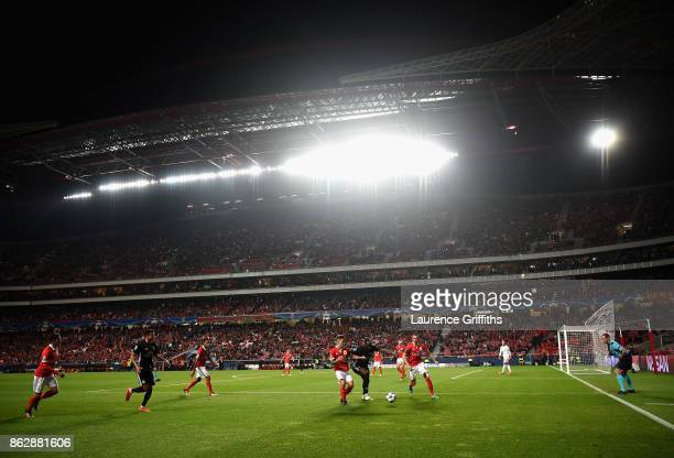 General view inside the stadium during the UEFA Champions League group A match between SL Benfica and Manchester United at Estadio da Luz on October...