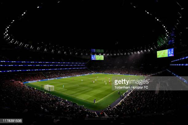 General view inside the stadium during the UEFA Champions League group B match between Tottenham Hotspur and Bayern Muenchen at Tottenham Hotspur...