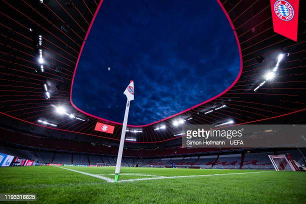 General view inside the stadium during the UEFA Champions League group B match between Bayern Muenchen and Tottenham Hotspur at Allianz Arena on...