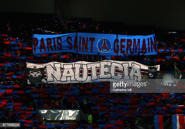 A general view inside the stadium during the UEFA Champions League group B match between Paris SaintGermain and Celtic FC at Parc des Princes on...