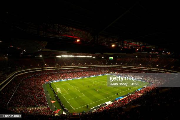 General view inside the stadium during the UEFA Champions League group G match between SL Benfica and Olympique Lyon at Estadio da Luz on October 23,...