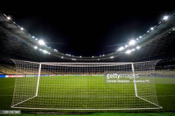General view inside the stadium during the UEFA Champions League Group G stage match between Dynamo Kyiv and Juventus at NSC Olimpiyskiy Stadium on...