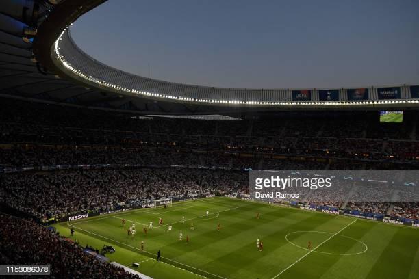 General view inside the stadium during the UEFA Champions League Final between Tottenham Hotspur and Liverpool at Estadio Wanda Metropolitano on June...