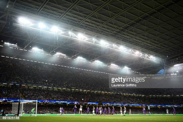 General view inside the stadium during the UEFA Champions League Final between Juventus and Real Madrid at National Stadium of Wales on June 3, 2017...
