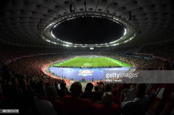 A general view inside the stadium during the UEFA Champions League Final between Real Madrid and Liverpool at NSC Olimpiyskiy Stadium on May 26 2018...