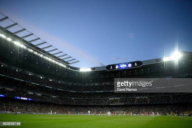 General view inside the stadium during the UEFA Champions League Semi Final Second Leg match between Real Madrid and Bayern Muenchen at the Bernabeu...