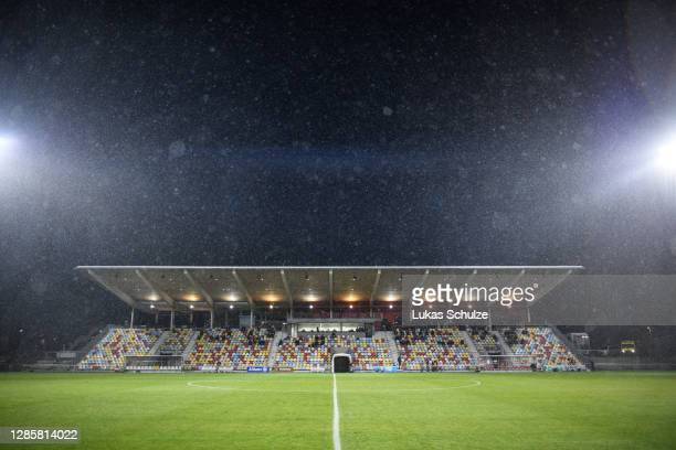General view inside the stadium during the UEFA Euro Under 21 Qualifier match between Luxembourg U21 and Italy U21 at Stade Municipal de la Ville de...