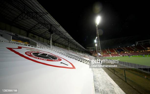 General view inside the stadium during the UEFA Europa League Group J stage match between Royal Antwerp and Tottenham Hotspur at Bosuilstadion on...