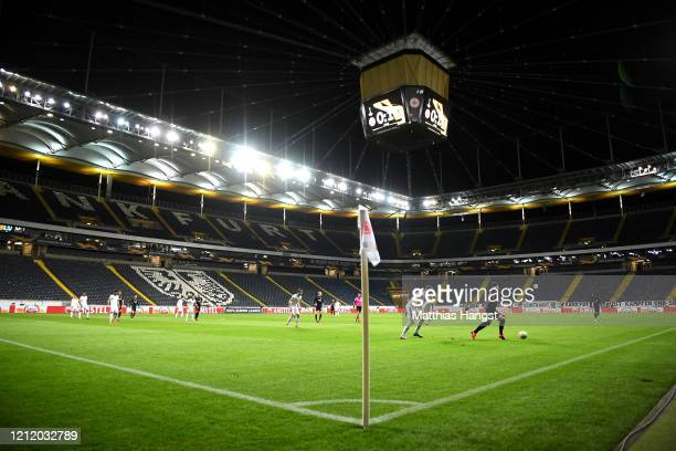 General view inside the stadium during the UEFA Europa League round of 16 first leg match between Eintracht Frankfurt and FC Basel at Commerzbank...