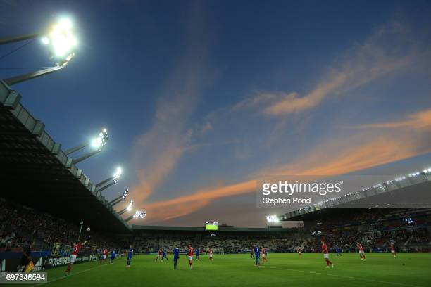 General view inside the stadium during the UEFA European Under21 Championship Group C match between Denmark and Italy at Krakow Stadium on June 18...