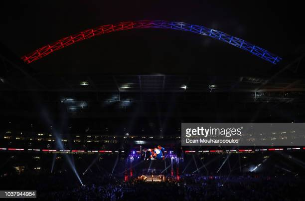 General view inside the stadium during the WBC Lightweight World Title Final Eliminator fight between Luke Campbell and Yvan Mendy at Wembley Stadium...