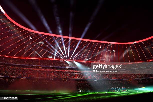 General view inside the stadium following the Bundesliga match between FC Bayern Muenchen and VfL Wolfsburg at Allianz Arena on December 21, 2019 in...