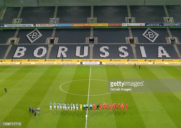 general view inside the stadium of Borussia Moenchengladbach during the Bundesliga match between Borussia Moenchengladbach and 1 FC Koeln at...