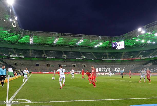 General view inside the stadium of Borussia Moenchengladbach during the Bundesliga match between Borussia Moenchengladbach and 1. FC Koeln at...