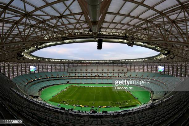 General view inside the stadium on the eve of the UEFA Europa League Final between Arsenal and Chelsea at Baku Olimpiya Stadion on May 28, 2019 in...