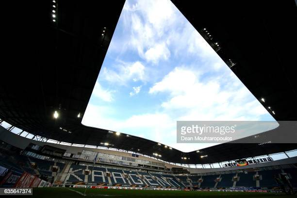 General view inside the stadium prior ot the UEFA Europa League Round of 32 first leg match between KAA Gent and Tottenham Hotspur at Ghelamco Arena...