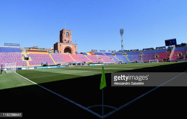 General view inside the stadium prior the 2019 UEFA U-21 Semi-Final match between Germany and Romania at Stadio Renato Dall'Ara on June 27, 2019 in...