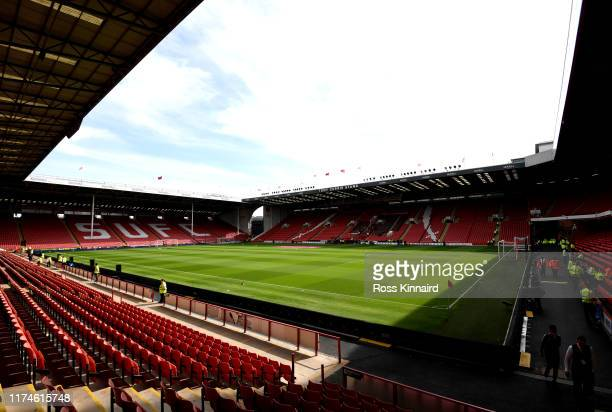 General view inside the stadium prior the Premier League match between Sheffield United and Southampton FC at Bramall Lane on September 14, 2019 in...