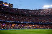 barcelona spain general view inside stadium
