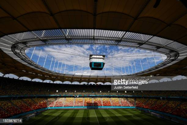 General view inside the stadium prior to a Ukraine pitch walk ahead of the Euro 2020 Group C match between Ukraine and North Macedonia at National...