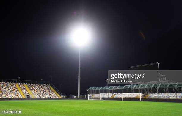 General view inside the stadium prior to an England press conference ahead of the UEFA Nations League match against Croatia at Stadion HNK Rijeka on...
