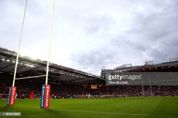 General view inside the stadium prior to Betfred Super League Grand Final between St Helens and Salford Red Devils at Old Trafford on October 12,...