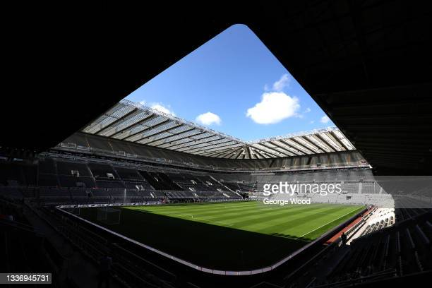 General view inside the stadium prior to duri the Premier League match between Newcastle United and Southampton at St. James Park on August 28, 2021...