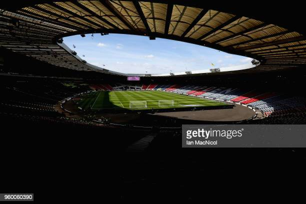 General view inside the stadium prior to during the Scottish Cup Final between Motherwell and Celtic at Hampden Park on May 19 2018 in Glasgow...