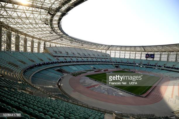 General view inside the stadium prior to during the UEFA Nations League D group four match between Azerbaijan and Kosovo at Baku Olimpiya Stadionu on...