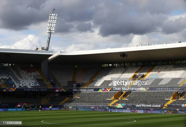 General view inside the stadium prior to England media access on the eve of their UEFA Nations League match against the Netherlands at Estadio D...