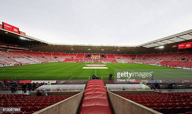 General view inside the stadium prior to kick off during the Premier League match between Sunderland and Crystal Palace at the Stadium of Light on...