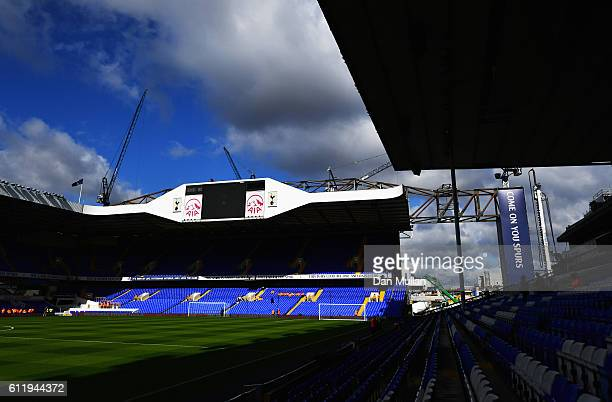 General view inside the stadium prior to kick off during the Premier League match between Tottenham Hotspur and Manchester City at White Hart Lane on...