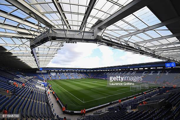 General view inside the stadium prior to kick off during the Premier League match between Leicester City and Southampton at The King Power Stadium on...
