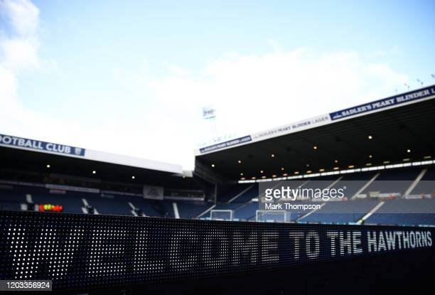 General view inside the stadium prior to kick off during the Sky Bet Championship match between West Bromwich Albion and Luton Town at The Hawthorns...
