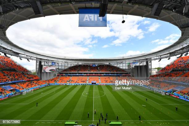 General view inside the stadium prior to the 2018 FIFA World Cup Russia group A match between Egypt and Uruguay at Ekaterinburg Arena on June 15 2018...