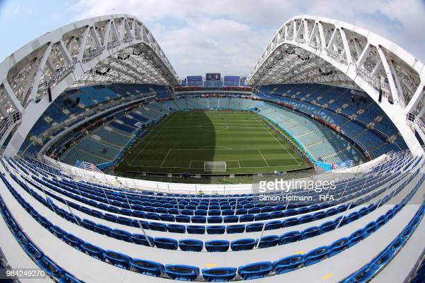 General view inside the stadium prior to the 2018 FIFA World Cup Russia group C match between Australia and Peru at Fisht Stadium on June 26 2018 in...