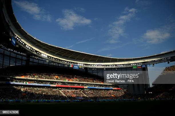 General view inside the stadium prior to the 2018 FIFA World Cup Russia group F match between Mexico and Sweden at Ekaterinburg Arena on June 27 2018...
